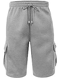 """<span class=""""a-offscreen"""">[Sponsored]</span>Men's Fleece Cargo Shorts Dream USA"""