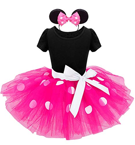 Toddler Girls Tutu Princess Dress+Headband,Costume Polka DotParty Wedding Pageant Ballet Lace Dress -