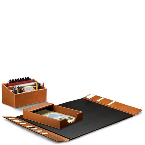 Levenger Morgan Desk Set (3 Pieces) - Tan by Levenger