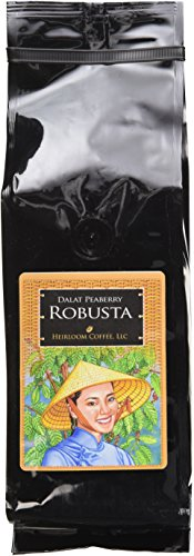 Dalat Peaberry Robusta Whole Bean Coffee, 1lb