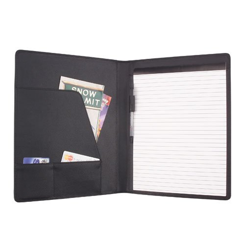 - DALIX Executive Top Grain Leather Padfolio Organizer Planner Notepad Folder with Paper