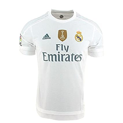 27cc1a07d15 Amazon.com   adidas 2015-2016 Real Madrid World Champions Home Football  Soccer T-Shirt Jersey   Sports   Outdoors
