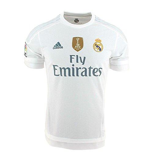 Adidas Real H JSY YWC - Camiseta para niño, Color Blanco/Gris, Talla
