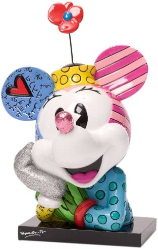 Enesco Disney by Britto Minnie Bust Figurine, 7.25-Inch