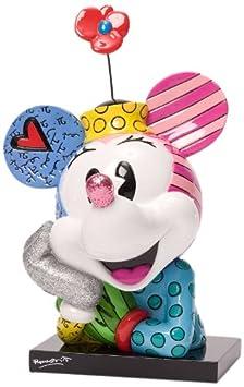 Enesco Disney by Britto Minnie Bust Figurine, 7.25-Inch