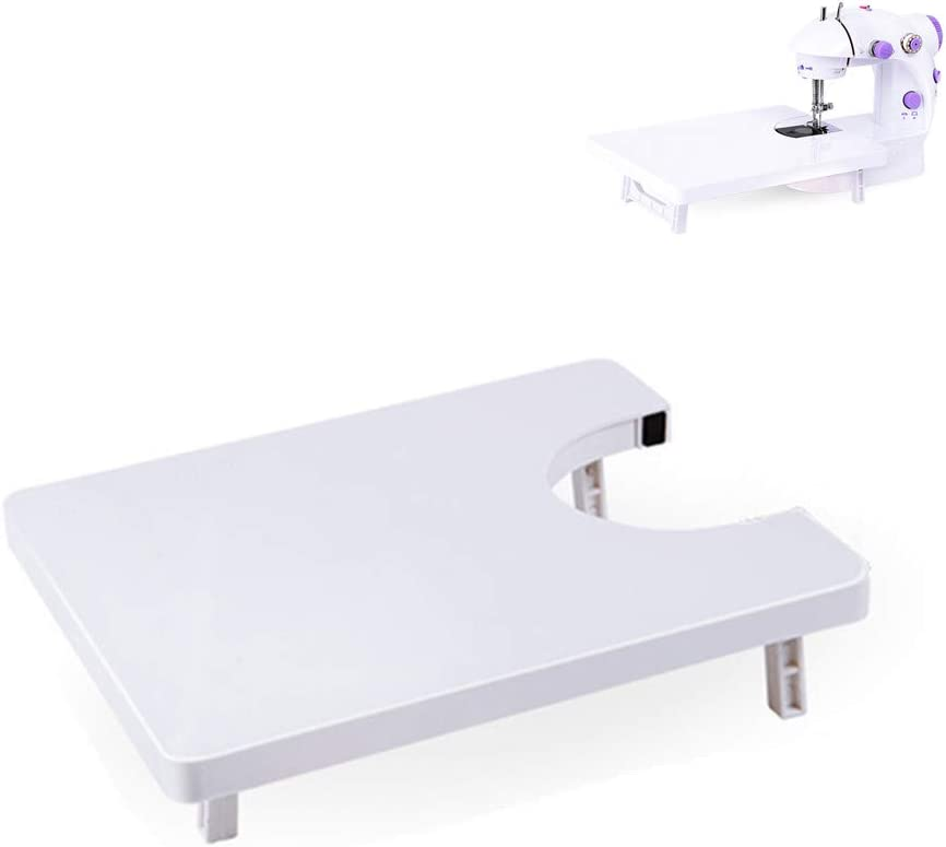 Mesa de extensión de máquina de coser universal de 25 x 20 cm para sastrería sastre herramientas de bricolaje, accesorios para máquinas de coser domésticas