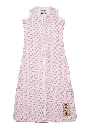 Lodger escandinavo impresión sin mangas – Saco de dormir para bebé (color rosa)