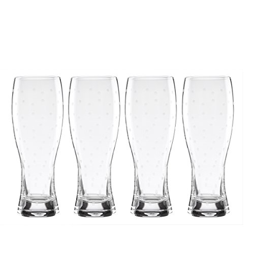 kate spade new york Larabee Dot 4-Piece 22 Ounce Wheat Beer Glass - Dot Spade Kate Polka Glasses