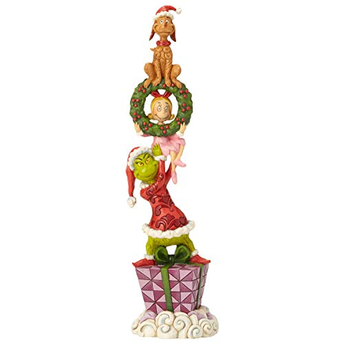 Enesco Dr. Seuss The Grinch by Jim Shore Stacked Characters Figurine, 13.39 , Multicolor
