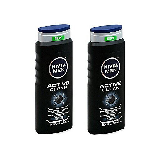 Price comparison product image Nivea 16.9 oz. Men Active Clean Body Wash in Deep Cleansing Charcoal (2 Pack)