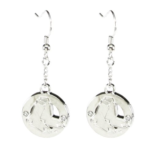 Boston Red Sox - MLB Crystal Cut-Out Earrings