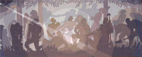 [The High Quality Polyster Canvas Of Oil Painting 'Aaron Douglas,Study For Aspects Of Negro Life An Idyll Of The Deep South,1934' ,size: 18x45 Inch / 46x113 Cm ,this Imitations Art DecorativeCanvas Prints Is Fit For Basement Decoration And Home Decoration And Gifts] (45 Coffee Wave Art)
