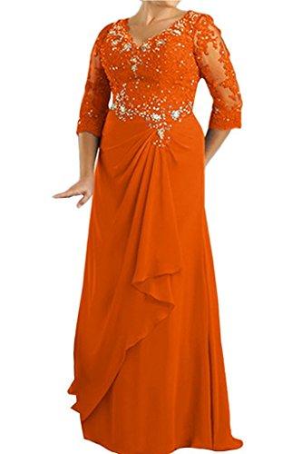 Topkleider para naranja mujer trapecio Vestido rqnEvr