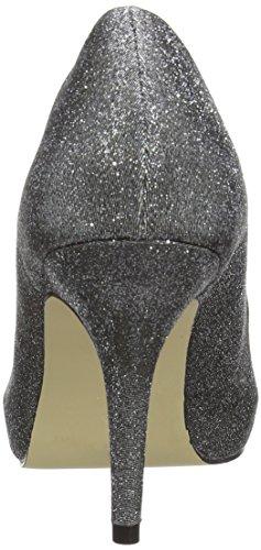 para de Coulanges Silber mujer Zapatos vestir Plata MENBUR Pewter 92 raso de AO6BAq