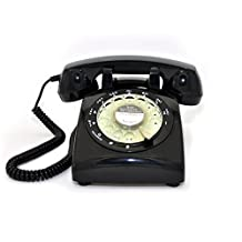 Glodeals Black Vintage Old Fashioned Rotary Dial Home Telephone