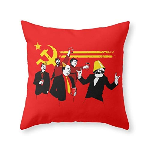 The Communist Party (Original) Throw Pillow Indoor Cover (18