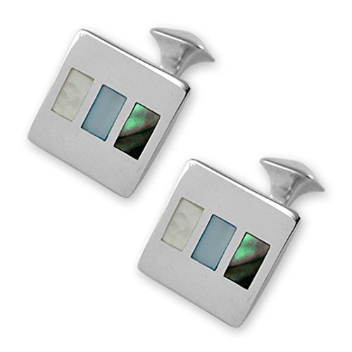 Cufflinks Gift amp; pearl Sterling shell silver Studs abalone Dress of Set Shirt mother 0xxgwS