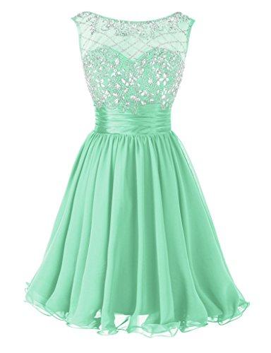 Dresstore Women's Short Beading Prom Dress Formal Homecoming Party Dress Mint US 22Plus