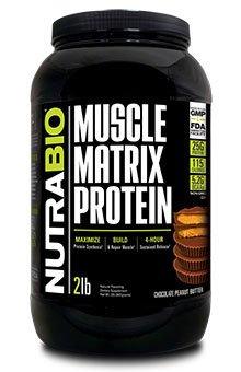 NutraBio Muscle Matrix Protein - Chocolate Peanut Butter 2lb