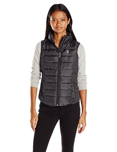 U.S. Polo Assn. Women's Puffer Vest, Black, L by U.S. Polo Assn.