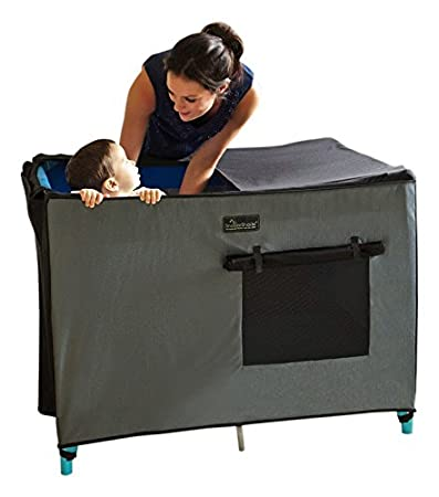 SnoozeShade - Breathable Pack N Play Crib Canopy and Netting Sleep Shade  sc 1 st  Amazon.com & Amazon.com : SnoozeShade - Breathable Pack N Play Crib Canopy and ...
