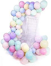 PuTwo Pastel Balloons 100 pcs 10 inch Pastel Coloured Balloons Pastel Party Decorations, Pastel Birthday Decorations for Girls, Pastel Baby Shower Decorations, Balloons Pastel - Assorted Colour
