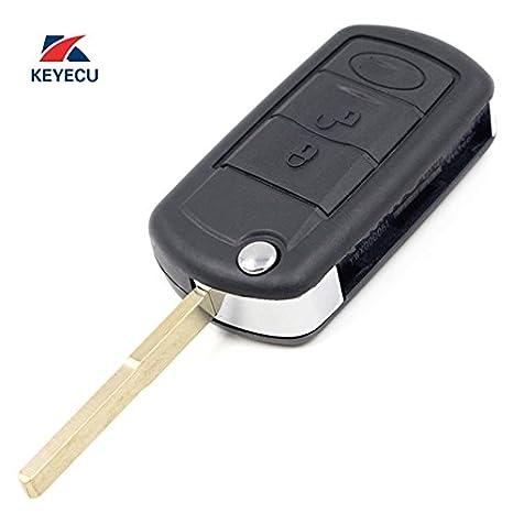 Keyecu Replacement Modified Flip Remote Car Key Fob 3 Button 315//433MHz ID44 for Range Rover Sport 2002-2006 FCC ID:LX8FZV