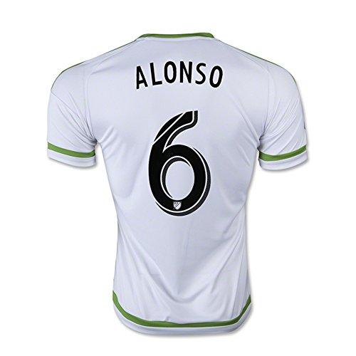 審判バウンス異常Adidas ALONSO #6 Seattle Sounders FC Away Jersey 2015-16 (Authentic name & number) /サッカーユニフォーム シアトル?サウンダーズFC アウェイ用 アロンソ