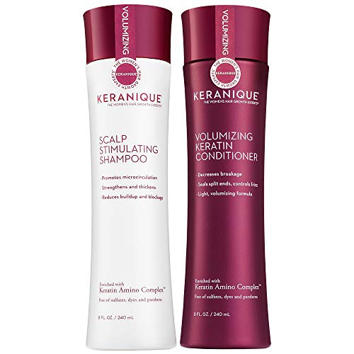 Keranique Shampoo and Conditioner Set for Hair Growth and Thinning Hair | Keratin Hair Treatment | Keratin Amino Complex