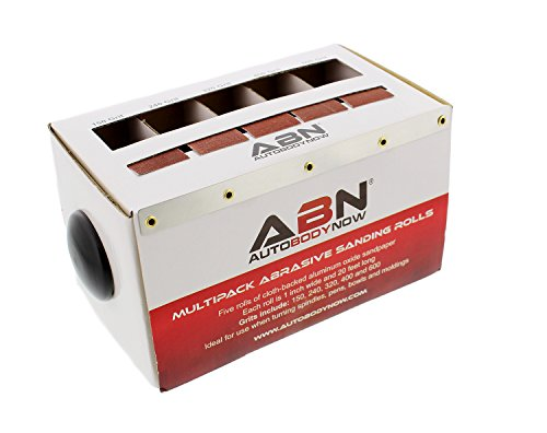 Roll Wood (ABN Abrasive Paper 5pc Sand Paper Variety Pack with Dispenser – 150, 240, 320, 400, 600 Grit Aluminum Oxide Sandpaper)