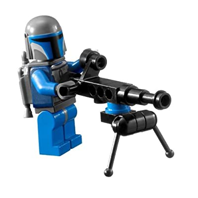 Lego Star Wars Mandalorian Trooper Minifigure with Pod Mounted Gun: Toys & Games