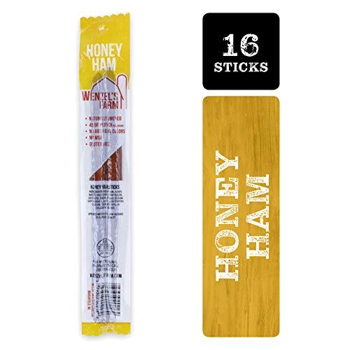 Wenzel's Farm Honey Ham Sticks - Gluten Free - No MSG - (8 packages of 2 sticks)