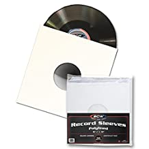"""50 BCW 12"""" Paper & Plastic Polylined Record Inner Sleeves for LP Vinyl Record Albums"""