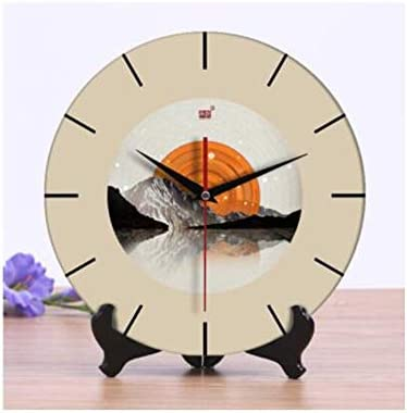 KEHUITONG ヨーロッパの象牙時計エレガントなガーデン時計クリエイティブリビングルームの研究寝室の時計縁起の良い装飾品10インチ (Color : 16, Size : 10 inches)