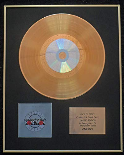 Century Presentations - Guns N' Roses - Exclusive Limited Edition 24 Carat Gold Disc - Greatest Hits