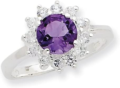Amethyst sterling silver ring size 7