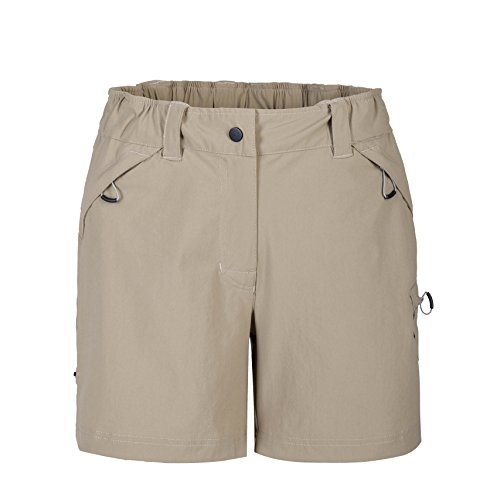 Khaki Long Shorts (MOHEEN Women's Active Performance Cargo Zipper Pocket Short, Water Repellent (2XL,Khaki))