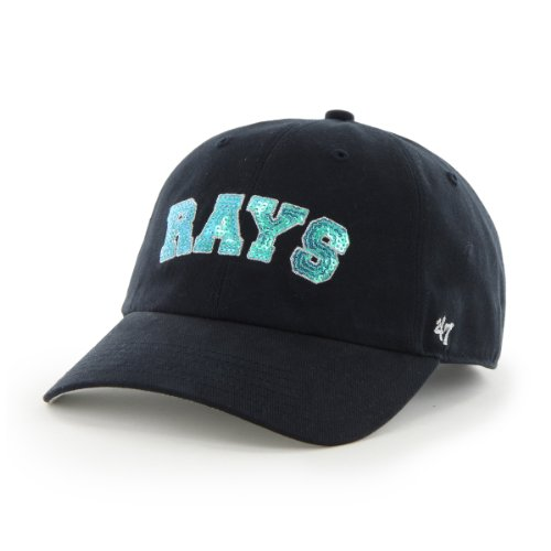 Bay Tampa Single Rays (MLB Tampa Bay Rays '47 Brand Natalie Sparkle Adjustable Cap, One Size, Navy)