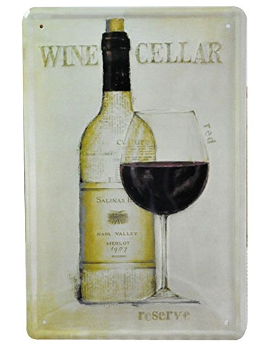 Wine Cellar Reserve Tin Signs,12 x 8 inches