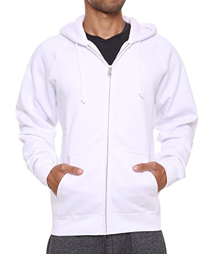 Men's Fleece Hoodies Full Sleeve-Front Zip Premium Hood 2 Kangaroo Split Pocket
