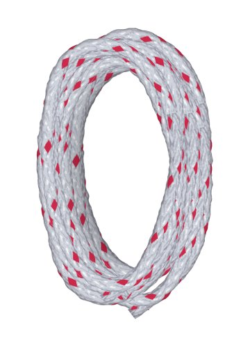 Lehigh BPE6100PW-P 100-Feet Polyester Diamond Braid Rope, White with Red Marker