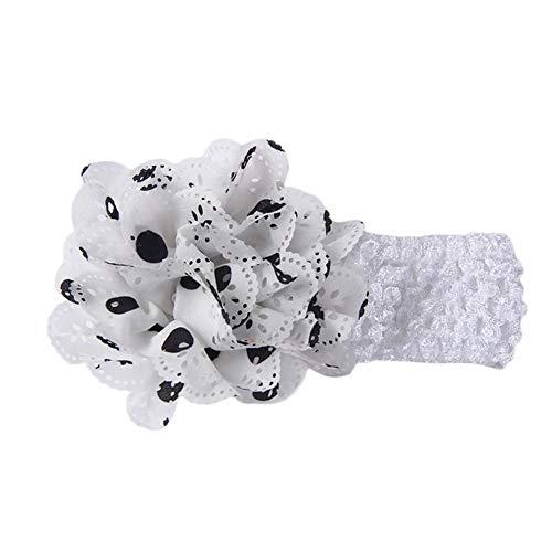 ❤️ Mealeaf ❤️ Girls Boys Baby Headbands Flower Hair Accessories Infant Hair Band WH(White,)