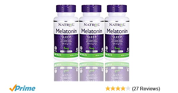 Amazon.com: Natrol Melatonin Time Release 5mg Tablets 100 ea (Pack of 3): Health & Personal Care