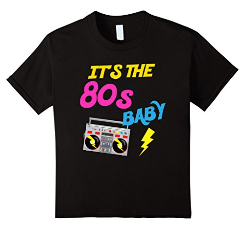 [Kids I Love The 80s Shirt Eighties Gift T-Shirt for Men and Women 8 Black] (80s Costume For Kids)