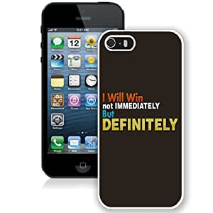 NEW Fashion Custom Designed Cover Case For iPhone 5S Winning Inspirational White Phone Case