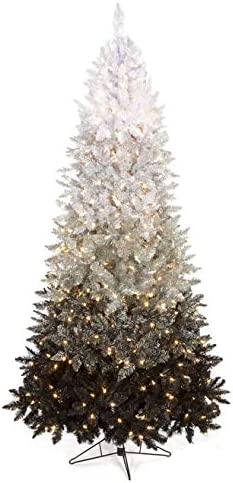 Amazon Com Led Ombre Tinsel Tree Black Christmas By Autograph 7 To 8 Feet Jewelry