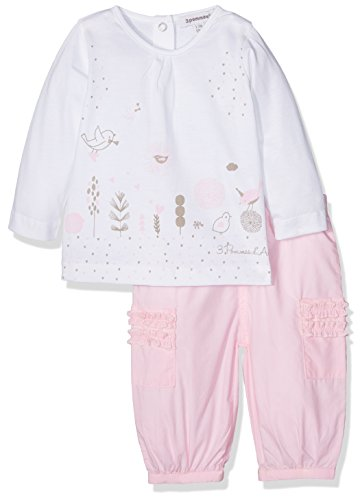 3 Pommes Pink Baby Pale Rose Outfit (6/9 Months)