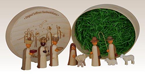Miniatures Nativity scene in splinter box, unpainted 13,5cmx8cm h=5cm NEW
