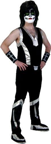 KISS Rock The Nation Catman Screenprint Adult Costume Standard Black