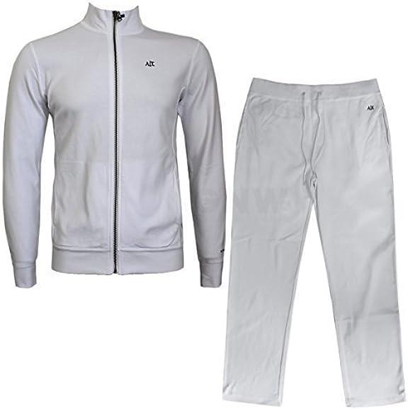 Armani Exchange - Chándal - para Hombre Blanco Blanco X-Large: Amazon.es: Ropa y accesorios
